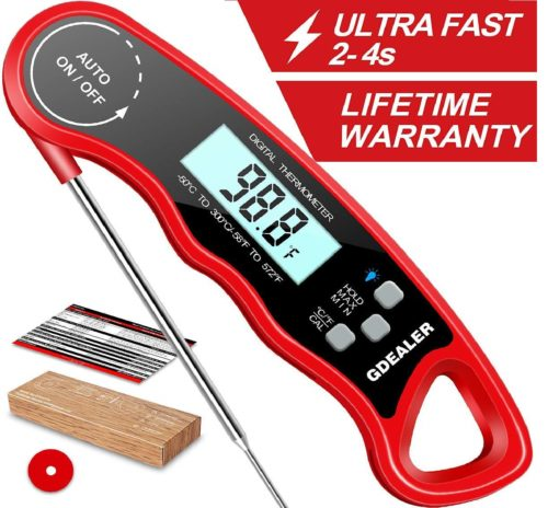 4. DT09 Waterproof Digital Instant Read Meat Thermometer with 4.6