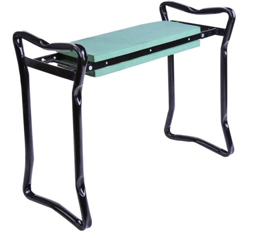 4.Padded Garden Kneeler and Seat Bench, Padded Foldable Garden Stool, Green