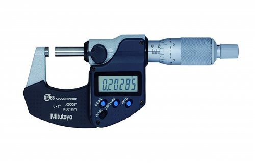 5.Digital Micrometer, Inch Metric, Ratchet Thimble