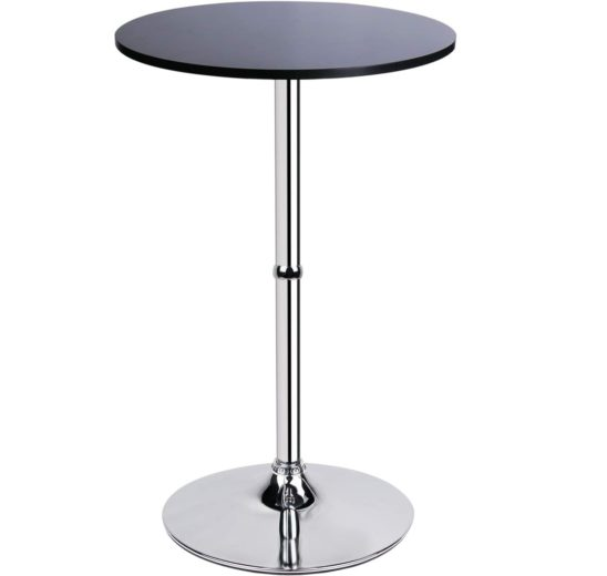 11.Leopard MDF Round Top Not Adjustable (41 INCHES Height) Bar Table