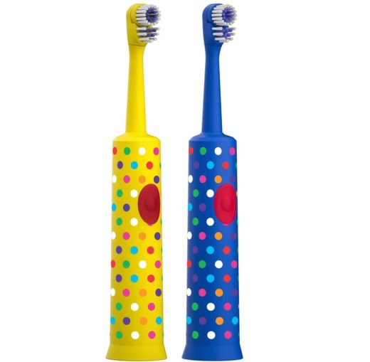 10.Amazon Brand - Solimo Kids Battery Powered Toothbrush, 2 Count