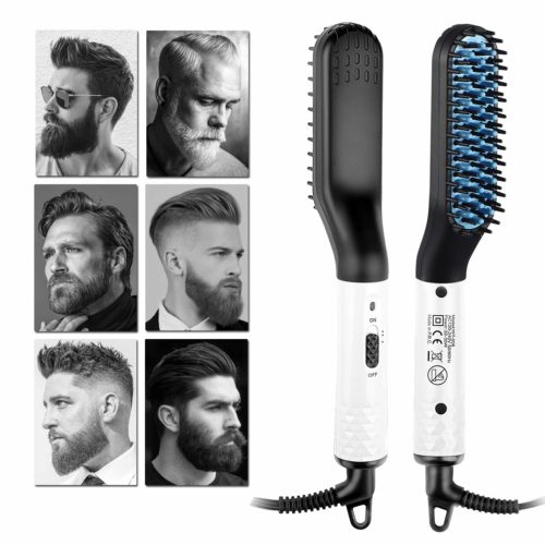 10.Beard Straightener Electric Hot Comb for Men, Beard Straightening Comb, Mens Hair Beard Iron Straightener, Quick Styling Bread Brush