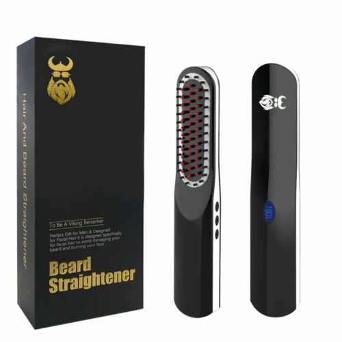 14.Beard Straightener, Beard Straightening Comb with Cordless