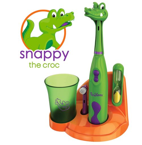15.Brusheez Kid's Electric Toothbrush Set (Safari Edition) - Snappy the Croc - Includes Battery-Powered Toothbrush