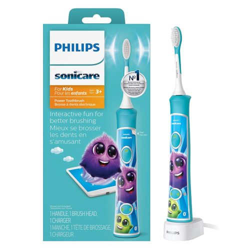 2.Philips Sonicare HX6321 02 Sonicare for Kids Rechargeable Electric Toothbrush, Blue