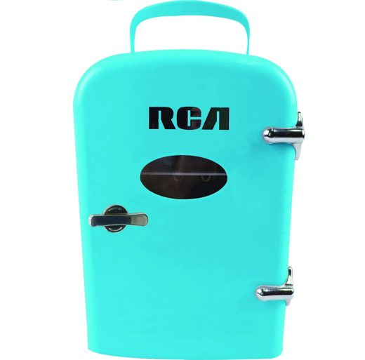 3.RCA RMIS129-BLUE Mini Retro 6 Can Beverage Refrigerator-Blue