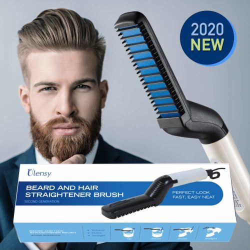 4.Ulensy Beard Straightener, Beard Straightener and Hair Straightener, Best Heat Beard Straightener and Hair Straightener Brush