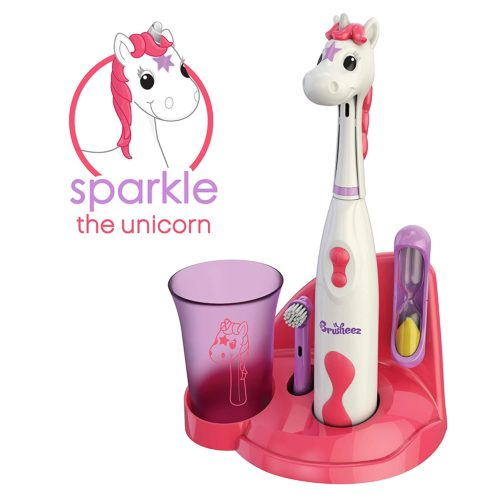 5.Brusheez Kid's Electric Toothbrush Set - Sparkle the Unicorn - Includes Battery-Powered Toothbrush,