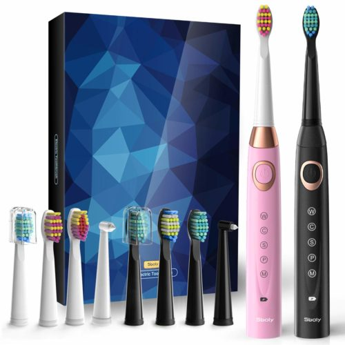 6.2 Sonic Electric Toothbrushes 5 Modes 8 Brush heads USB Fast Charge Powered Toothbrush Last for 30 Days
