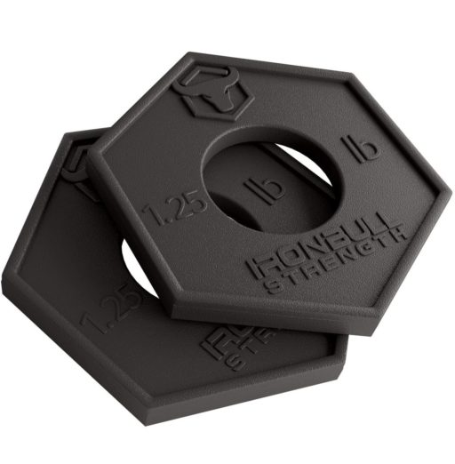 6.Iron Bull Strength Olympic Fractional Plates 1.25 lb (Pair) - Set of 2 x 1.25 Pound Weight Plates