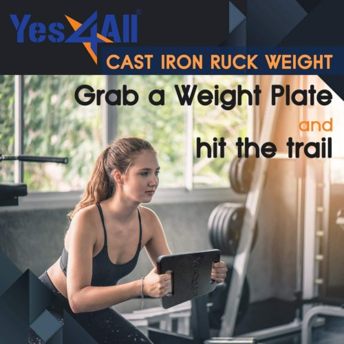 7.Yes4All Cast Iron Ruck Weight – Multi Weights Available 10, 15, 20, 25, 30, 35 and 45lbs