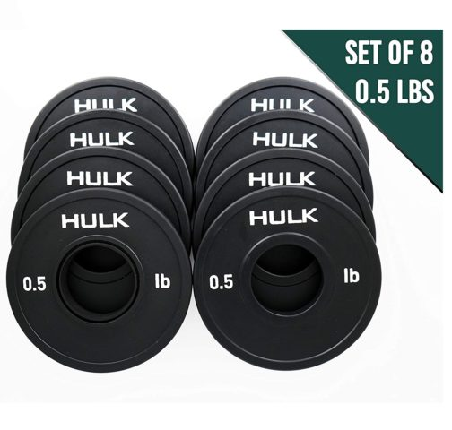 8.Hulk Olympic Fractional Plates by Wick & Wire - Micro Weight Plates for Barbell or Dumbbell