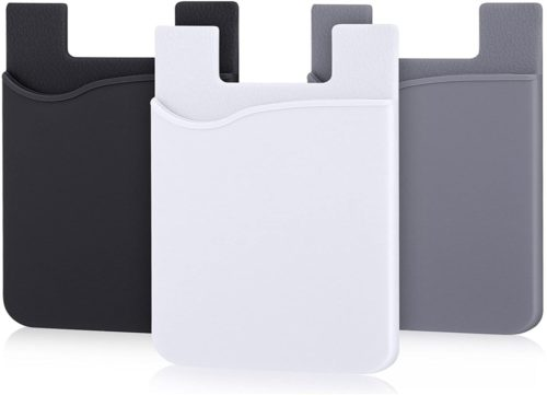 AgentWhiteUSA Credit Card Wallet for Phone and ID Holder- Best Stick on Phone Card Holder Wallet