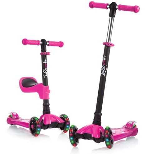 Best Suit for Girls: Lascoota 3 Wheel Scooters​ for Kids with Adjustable Height, Best for Toddlers
