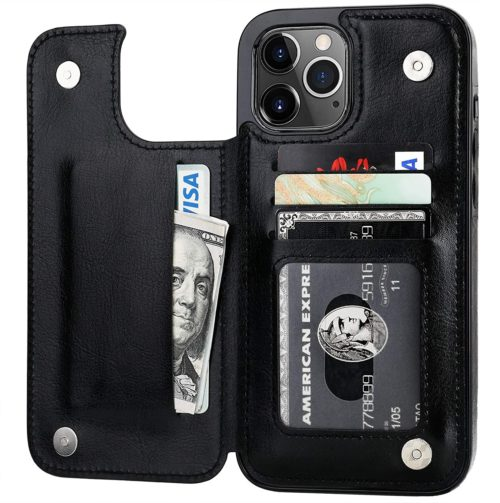 OneTop iPhone 12 Business Card Wallet with Leather Card Holder Cell Phone Wallet Case