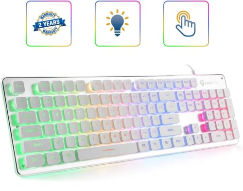11. LANGTU Membrane Rainbow LED Wired Gaming Backlit Keyboard