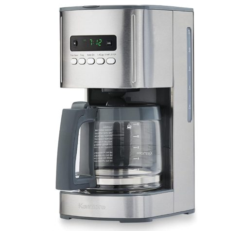 13. Kenmore Programmable Stainless Steel Coffee Maker with Timer