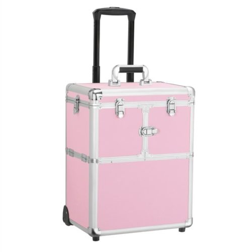 Yaheetech Best Professional Makeup Kits Cute Pink Makeup Train Case