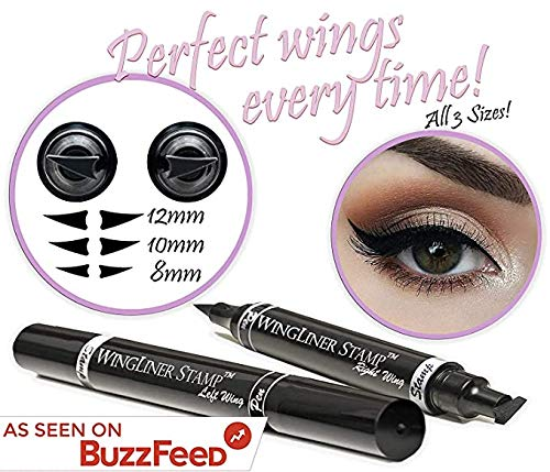 2.Winged Eyeliner Stamp – WingLiner by Lovoir (All Sizes Triple Pack Combo, Midnight Black)