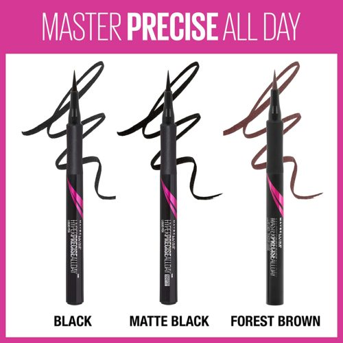 4.Maybelline Eyestudio Master Precise All Day Liquid Eyeliner Makeup, Black, 0.034 fl. oz.