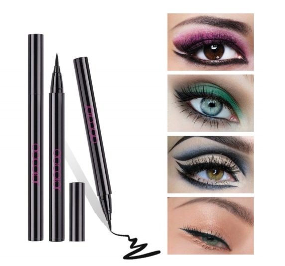 5.Docolor Waterproof Eyeliner Pen Super Slim Liquid Eyeliner Eye Liner Gel Black
