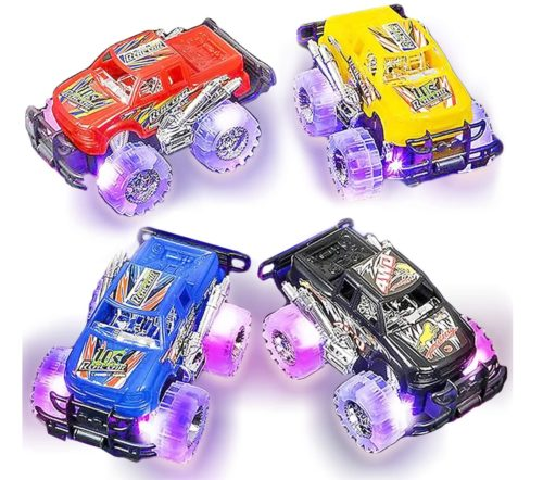 Art Creativity Light Up Monster Truck Toys for Kids Set, Toy Car Collector