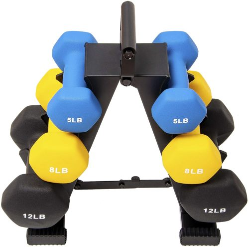 Best Overal: Balance From 50 Pound Hex and Neoprene Dumbbell Sets with Rack for All Purpose