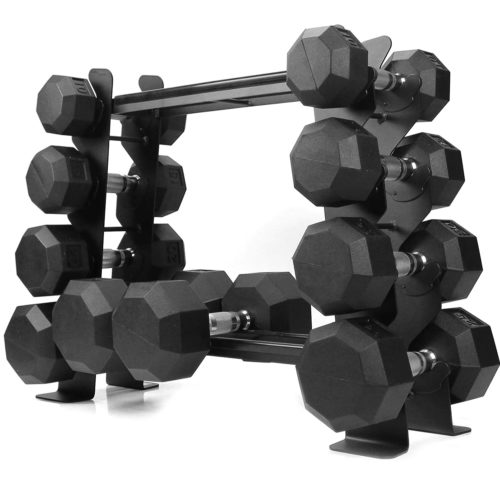 Best Value For Money: XPRT Fitness Rubber and Neoprene Dumbbell Sets with Rack Stand and Versatile Design
