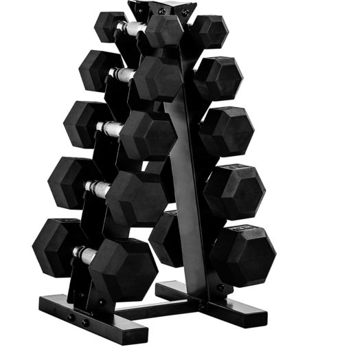 Cheapest Of All: CAP Barbell Neoprene Dumbbell Sets with Rack, Rubber, and Hex Dumbbell Weight Sets for Women and Men