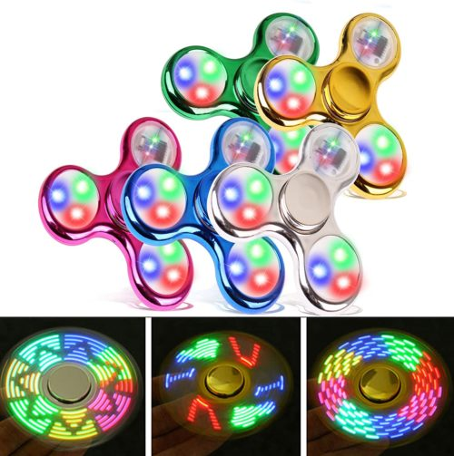 FIGROL Light Fidget Spinner LED Rainbow Toy for Kids ADHD Stress Reducer