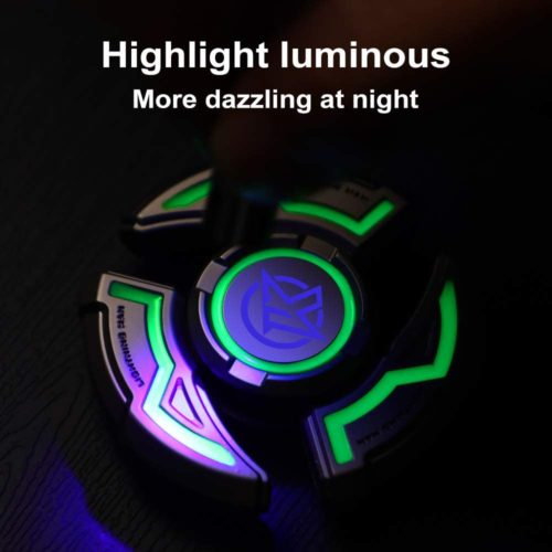 JassLife Hand Spinner LED Light Up Fidget Spinner Toys for Kids and Adults