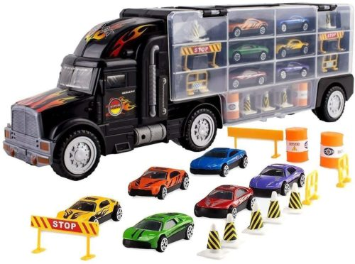 ToyVelt Toy Truck Transport Car Carriers Toys and Truck for Kids