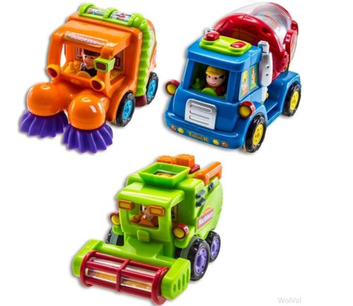 WolVol Monster Truck Toy Powered Boys Cars