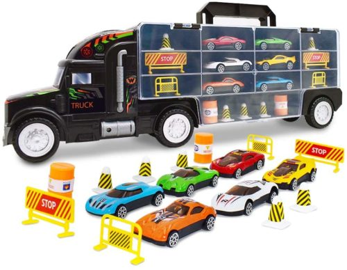 WolVol Transport Boys Cars Toys for Kids Car Carriers Toy, Monter Truck