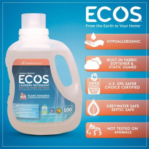 11.Earth Friendly Products ECOS 2X Liquid Laundry Detergent