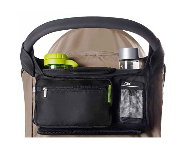1. Ethan & Emma Universal Baby Stroller Organizer with Insulated Cup Holders for Smart Moms