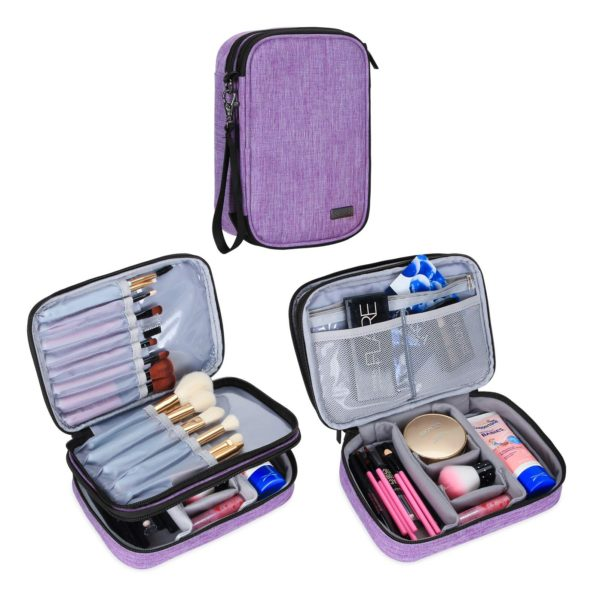 10. Teamoy Travel Makeup Brush Case(up to 8.8)