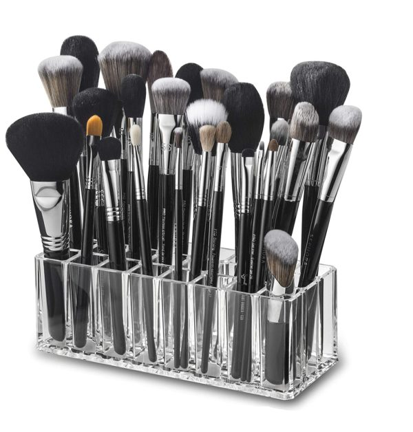 11. byAlegory Acrylic Makeup Brush Organizer 24 Space Storage w,Deep Slots for Cosmetic Beauty