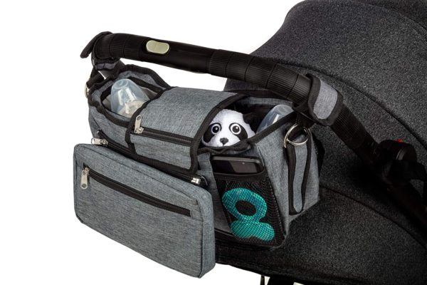 12. Deluxe Non Slip Baby Stroller Organizer Bag with Insulated Cup Holders