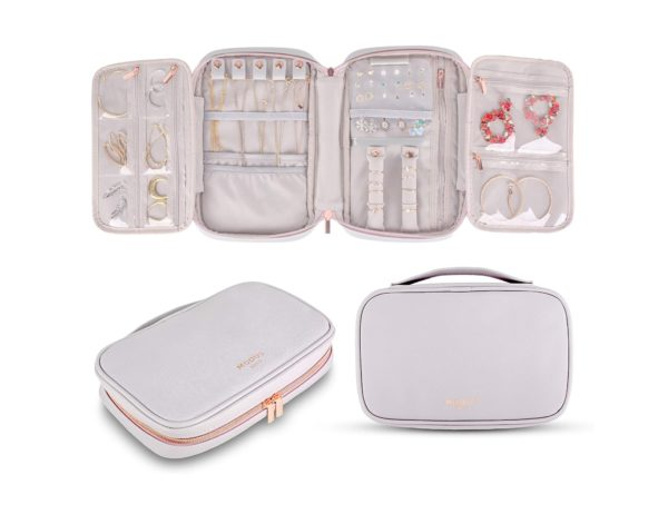 12. MODUS BAGS Travel Jewelry Organizer, Large Capacity Case for Tangle-Free Earrings