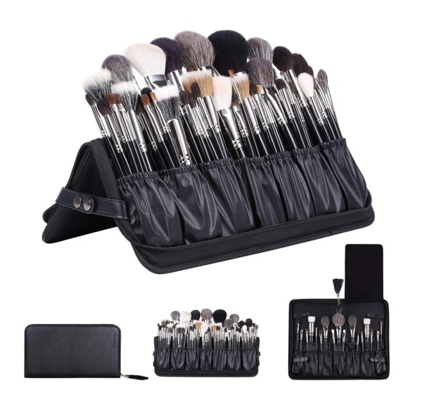 12. Rownyeon Professional Makeup Brushes Organizer Bag Makeup Artist Cosmetic Case