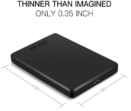 12. TEYADI Ultra Slim Portable External Hard Drive