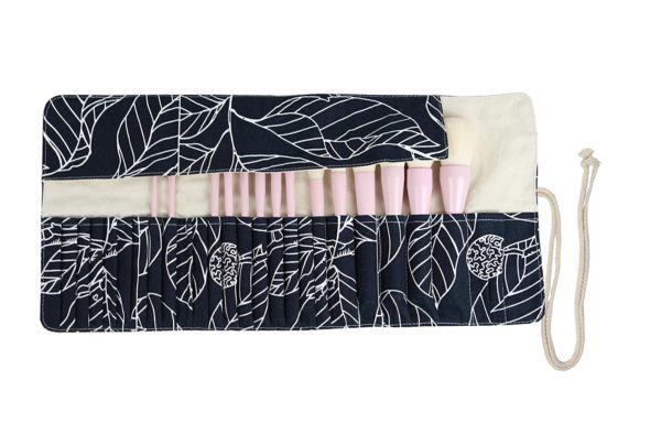 13. 24 Pockets Makeup Brush Rolling Case Pouch Holder Cosmetic Bag Organizer Case