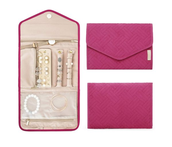 4. BAGSMART Travel Jewelry Organizer Roll Foldable Jewelry Case for Journey-Rings