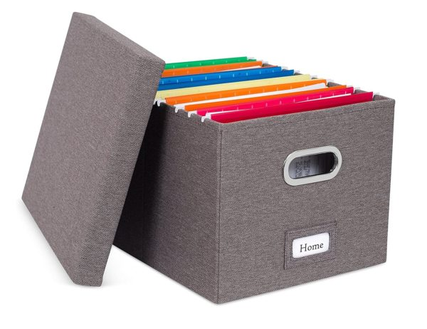 4. Internet's Best Collapsible File Storage Organizer with Lid