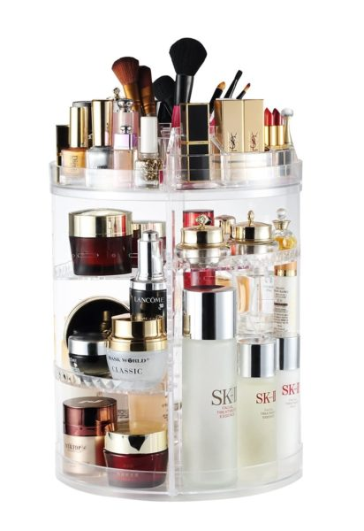 4. Makeup Organizer, 360 Degree Rotating Adjustable Cosmetic Storage Display Case with 8 Layers Large Capacity