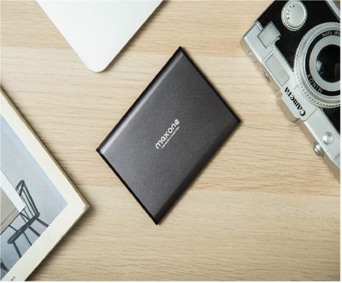 4. Maxone Ultra Slim HDD Portable External Hard Drive