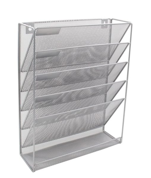 6. EasyPAG Mesh Wall Hanging File Holder Organizer Mounted Document Tray