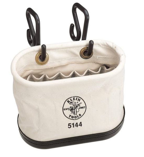 9. Klein Tools 5144 Aerial Oval Bucket Made of No. 6 Canvas