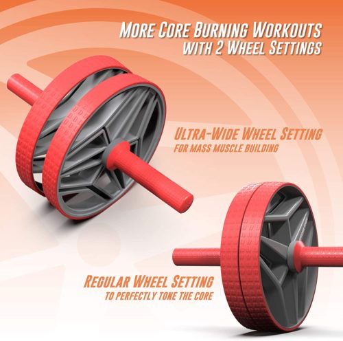 10. Epitomie Bio Core Fitness Ab Roller Wheel with Knee Mat